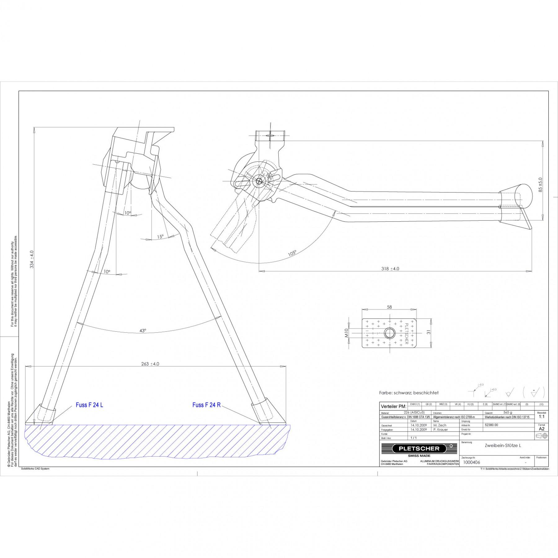 Pletscher Double Leg Kickstands